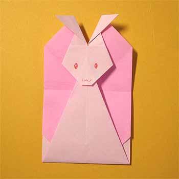ハート 折り紙:折り紙ウサギの折り方-origamisho.com