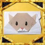 折り紙で猫のポチ袋の簡単な折り方!正月小銭入れにかわいい作り方