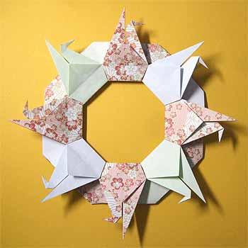 簡単 折り紙:お正月飾り 折り紙-origamisho.com
