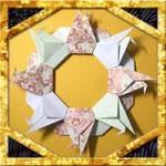 折り紙で正月リースの作り方!正月飾りに鶴のリースを簡単手作り