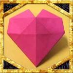 折り紙で立体的なハートの折り方!簡単バレンタイン飾りの作り方
