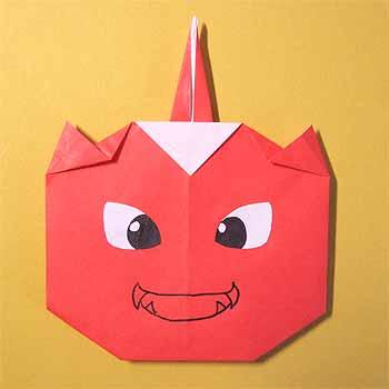 クリスマス 折り紙 折り紙 鬼 : origamisho.com