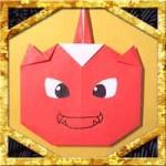折り紙で1本角赤鬼の折り方!節分に子供も簡単な作り方