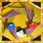 折り紙で節分リースの折り方!簡単節分飾りの作り方