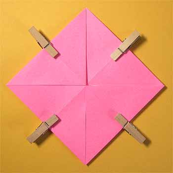 クリスマス 折り紙 折り紙ハートの作り方 : origamisho.com