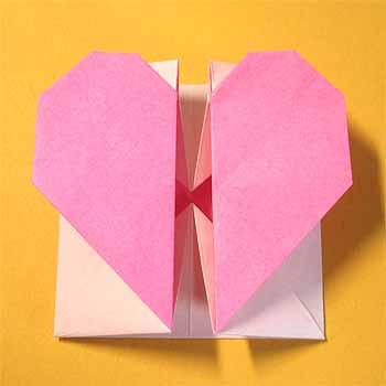 簡単 折り紙 折り紙でハートの作り方 : origamisho.com