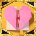 折り紙でハート窓の折り方!簡単バレンタインメッセージの作り方