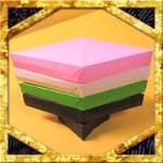 折り紙で立体的な菱餅の折り方!簡単ひな祭り飾りの作り方