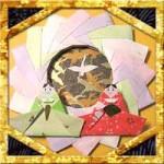 折り紙でひな祭りリースの折り方!簡単桃の節句飾りの作り方