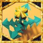 折り紙で立体的なたんぽぽに葉の折り方!簡単春の花の作り方