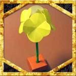 折り紙で立体的な菜の花の折り方!花束ブーケにもなる作り方