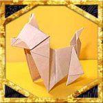 折り紙で犬・戌の折り方!1枚で簡単立体的な日本犬の作り方