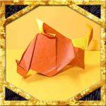 折り紙で干支の亥・猪(いのしし)の折り方!1枚で簡単立体的な作り方